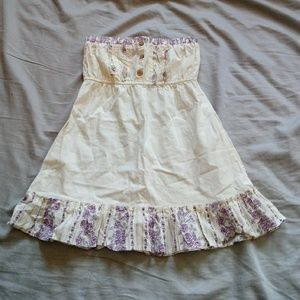 Fang white purple strapless top size extra small
